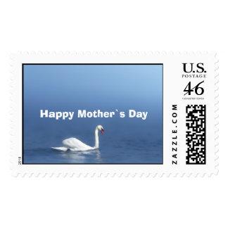 cisne día feliz del ` s de la madre