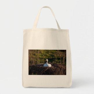 Cisne en jerarquía bolsas lienzo