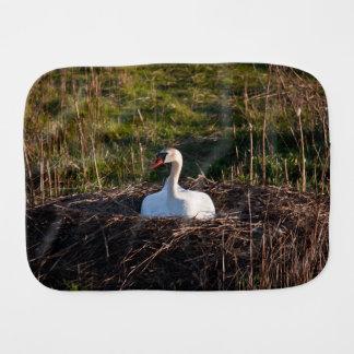 Cisne en jerarquía paños para bebé