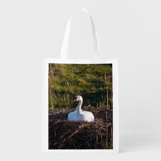 Cisne en jerarquía bolsa reutilizable