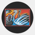 Cisne Etiquetas Redondas