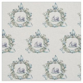 Cisne hermoso del vintage en diseño delicado de la telas