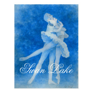 Cisne Lake Pas de Deux Postcard Tarjetas Postales