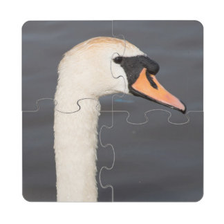Cisne mudo posavasos de puzzle
