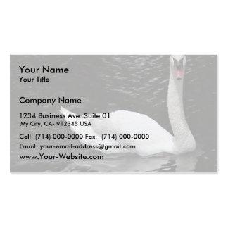 Cisne mudo tarjeta personal