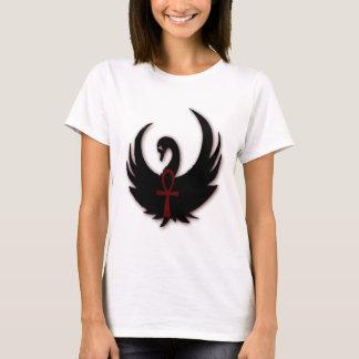 Cisne negro con Ankh Playera