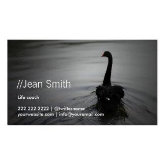 Cisne negro elegante del consejero del coche de la tarjetas de visita