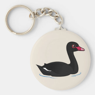 Cisne negro lindo llaveros personalizados