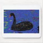 Cisne negro Mousepad Tapetes De Ratones
