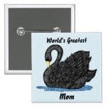 Cisne negro para la mamá pin