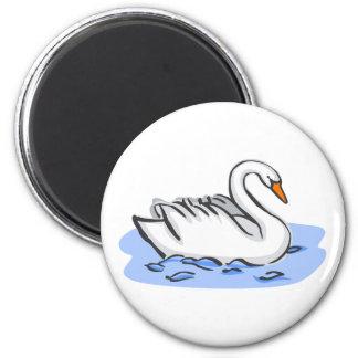 Cisne ostentoso imán para frigorífico