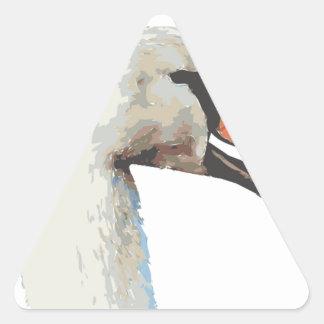 Cisne Pegatina Triangular