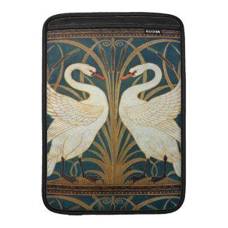 Cisne, precipitación e iris de la grúa de fundas para macbook air