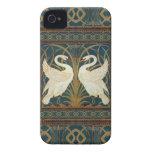 Cisne, precipitación e iris de la grúa de iPhone 4 cárcasa