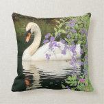 Cisne y almohada de las flores