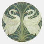 Cisne y pegatina de Nouveau del arte de la