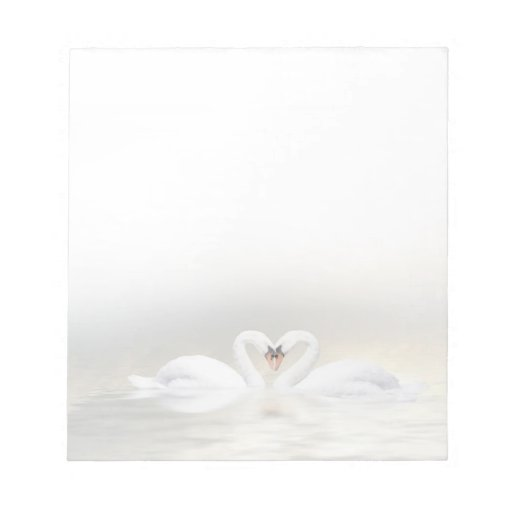 Cisnes cariñosos bloc de notas
