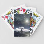 Cisnes cariñosos cartas de juego