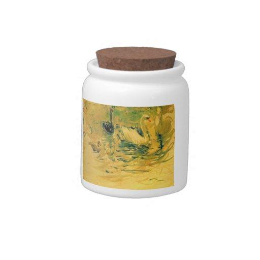 Cisnes de Berthe Morisot Jarra Para Caramelo