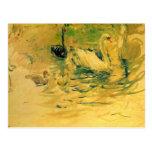 Cisnes de Berthe Morisot Tarjetas Postales