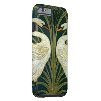 Cisnes de Nouveau del arte de la grúa Funda De iPhone 6 Tough