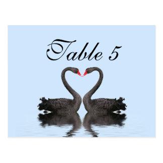 Cisnes de Romancing de la tarjeta del número de la Tarjeta Postal