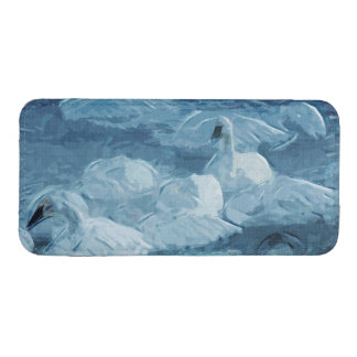 Cisnes de trompetista en extracto de la niebla de bolsillo para iPhone
