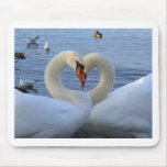 Cisnes del amor alfombrilla de ratones