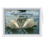 Cisnes del aniversario tarjetas