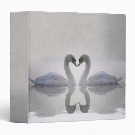"""Cisnes en la carpeta/el álbum de foto 1,5"""" del ~ carpeta 1 1/2"""""""