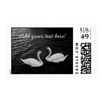 Cisnes gemelos sello postal