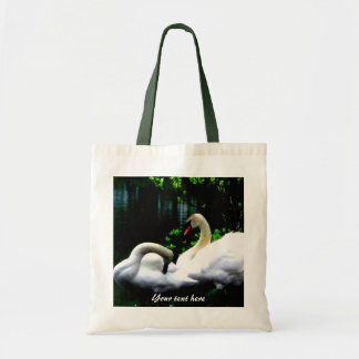 Cisnes mudos blancos de encargo bolsa tela barata