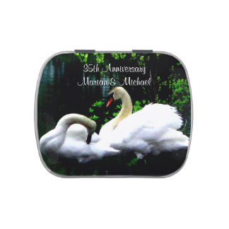 Cisnes mudos blancos de encargo jarrones de caramelos