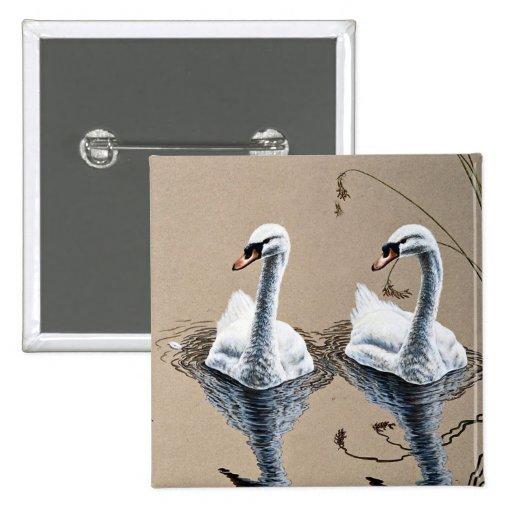 Cisnes mudos pin cuadrada 5 cm