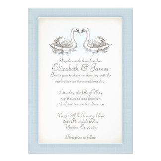 Cisnes que casan invitaciones