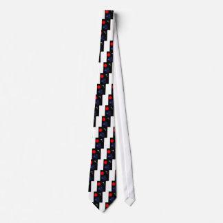 Cisnes sobre azul - de la colección roja de Sun Corbata Personalizada