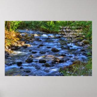 Cispus River HDR Print w/Scripture Verse