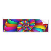 Cissoid of Diocles Abstract Fine Fractal Art Bumper Sticker