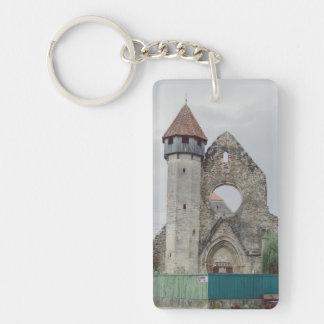 Cistercian church, Carta Double-Sided Rectangular Acrylic Keychain