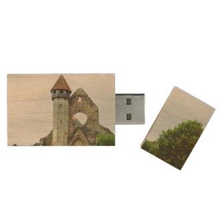 Cistercian church, Carta Wood USB 2.0 Flash Drive