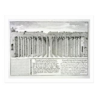 Cistern beneath the Hippodrome, Constantinople, Tu Postcard