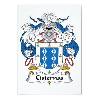 Cisternas Family Crest Custom Invitations