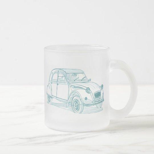 Cit 2CV Frosted Glass Coffee Mug