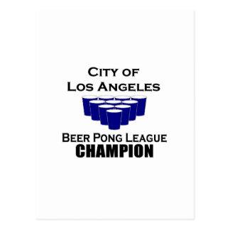 Cit of Los Angeles Beer Pong League Postcard