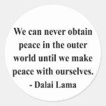 cita 10a de Dalai Lama Pegatina Redonda