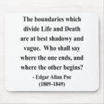 Cita 10a de Edgar Allen Poe Tapete De Ratón