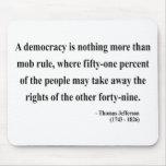 Cita 10a de Thomas Jefferson Tapete De Raton