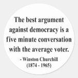 Cita 10a de Winston Churchill Pegatina