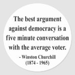 Cita 10a de Winston Churchill Pegatina Redonda