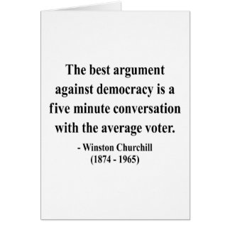 Cita 10a de Winston Churchill Tarjeton